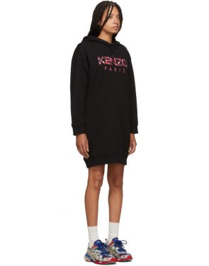 photo Black Paris Peony Sweatshirt Dress by Kenzo - Image 2