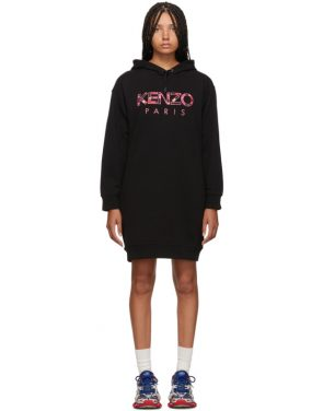 photo Black Paris Peony Sweatshirt Dress by Kenzo - Image 1