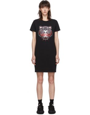photo Black Classic Tiger Head T-Shirt Dress by Kenzo - Image 1
