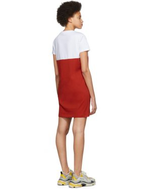 photo White and Red Limited Edition Colorblock Tiger Dress by Kenzo - Image 3