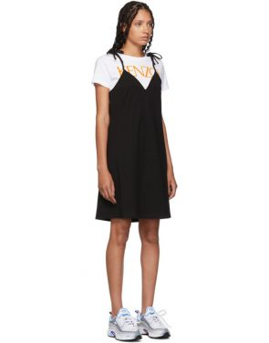 photo Black T-Shirt Mini Dress by Kenzo - Image 2