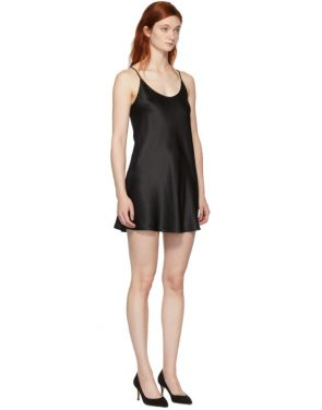 photo Black Silk Short Slip Dress by La Perla - Image 2