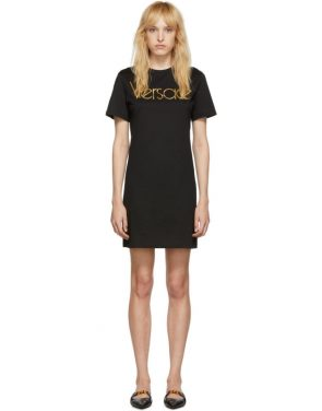 photo Black Logo Dress by Versace - Image 1