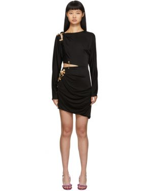 photo Black Draped Safety Pin Dress by Versace - Image 1