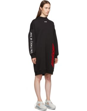 photo Black Fleece Multi Logo Dress by MSGM - Image 2