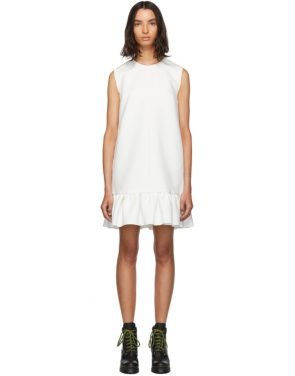 photo White Double Layer Cady Crepe Dress by MSGM - Image 1