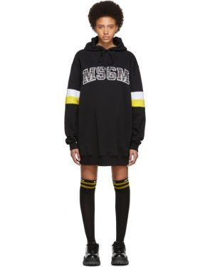 photo Black Oversized Logo Short Dress by MSGM - Image 1