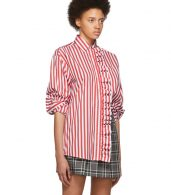 photo Red and White Stripe Shirt Dress by MSGM - Image 2