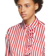 photo Red and White Stripe Shirt Dress by MSGM - Image 5