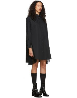 photo Black Poplin Zip Dress by Sacai - Image 2