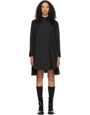 photo Black Poplin Zip Dress by Sacai - Image 1