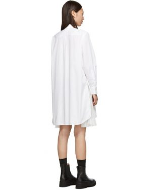 photo White Cotton Poplin Dress by Sacai - Image 3