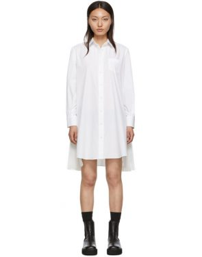 photo White Cotton Poplin Dress by Sacai - Image 1