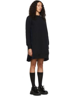 photo Black and Navy Sponge Sweatshirt Dress by Sacai - Image 2