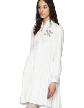 photo White Pleated Tennis Dress by Gucci - Image 4