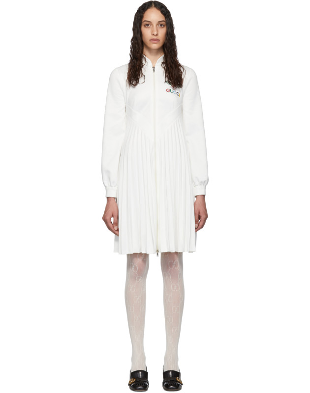 photo White Pleated Tennis Dress by Gucci - Image 1