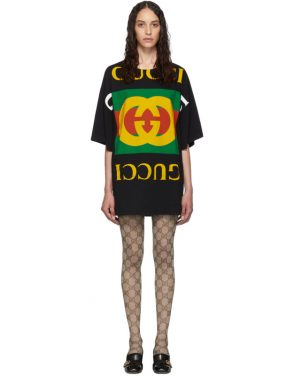 photo Black Oversized T-Shirt Dress by Gucci - Image 1