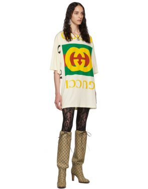 photo Off-White Oversized T-Shirt Dress by Gucci - Image 5