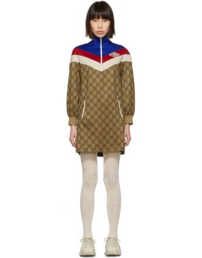 photo Beige GG Logo Dress by Gucci - Image 1