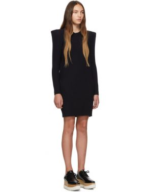 photo Navy Wide Shoulder Dress by Stella McCartney - Image 2