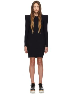 photo Navy Wide Shoulder Dress by Stella McCartney - Image 1