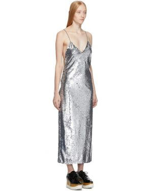 photo Silver Sequins Midi Dress by Stella McCartney - Image 2