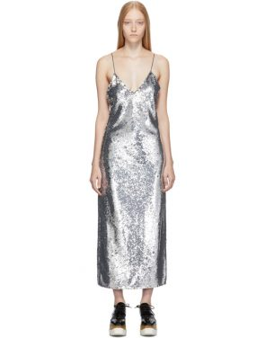 photo Silver Sequins Midi Dress by Stella McCartney - Image 1