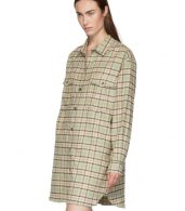 photo Green and Orange Check Iceo Pilou Dress by Isabel Marant Etoile - Image 4