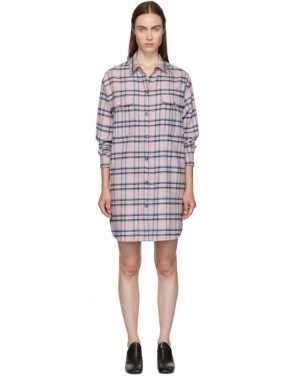 photo Pink and Blue Check Iceo Pilou Dress by Isabel Marant Etoile - Image 1