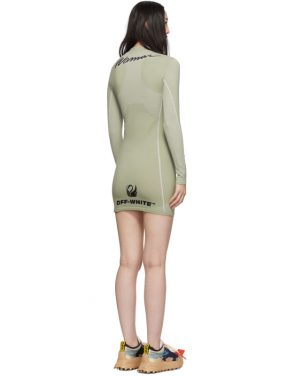 photo Green Athletic Long Sleeve Dress by Off-White - Image 3