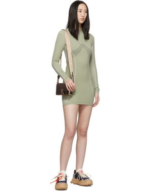 photo Green Athletic Long Sleeve Dress by Off-White - Image 5