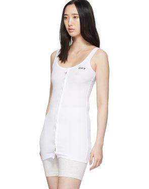 photo White Buttoned Up Mini Dress by Off-White - Image 4