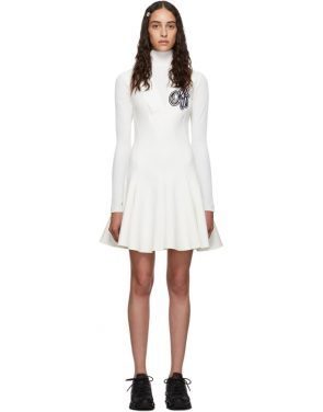 photo White Cheerleader Multiwaves Dress by Off-White - Image 1