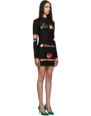 photo Black Multilogo Sporty Dress by Off-White - Image 2