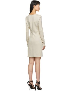 photo Beige Side Opening Mini Dress by Off-White - Image 3