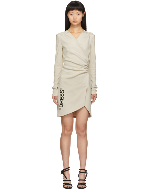 photo Beige Side Opening Mini Dress by Off-White - Image 1