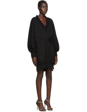 photo Black Intarsia Side Zip Sweatshirt Dress by Off-White - Image 2