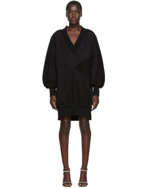 photo Black Intarsia Side Zip Sweatshirt Dress by Off-White - Image 1