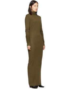 photo Brown Long Turtleneck Dress by Lemaire - Image 2