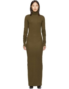 photo Brown Long Turtleneck Dress by Lemaire - Image 1