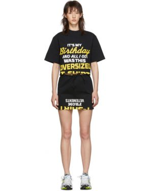 photo Black Happy Birthday T-Shirt Dress Set by VETEMENTS - Image 1