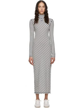 photo Navy and White Stripe Jersey High Neck Dress by Loewe - Image 1