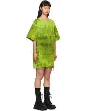 photo Green Denim Tie Dye Dress by Marques Almeida - Image 2