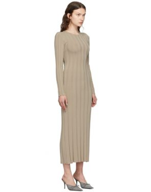 photo Taupe Bianco Long Dress by Toteme - Image 2