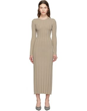 photo Taupe Bianco Long Dress by Toteme - Image 1