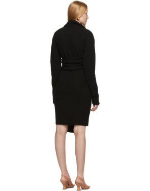 photo Black Twin Scarf Knit Dress by Bottega Veneta - Image 3