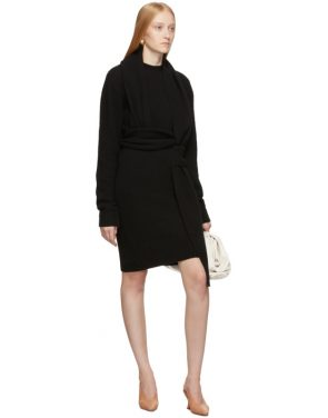 photo Black Twin Scarf Knit Dress by Bottega Veneta - Image 5