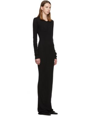 photo Black Full Jersey Thermal Mini Rib Dress by Our Legacy - Image 2