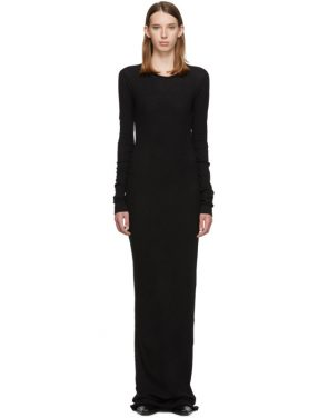 photo Black Full Jersey Thermal Mini Rib Dress by Our Legacy - Image 1