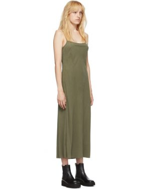 photo Khaki Silk Bias Slip Dress by Our Legacy - Image 2